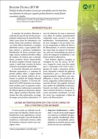 Boletim Técnico IFT 05