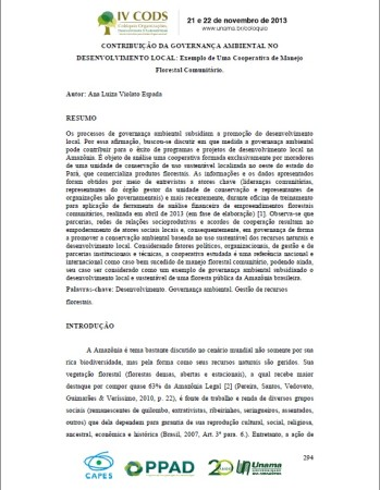 Contribuição da Governança ambiental