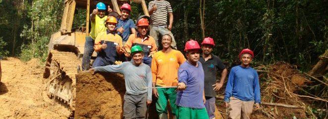 (Português do Brasil) Etapas preparatórias para colheita florestal avançam na comunidade Itapéua