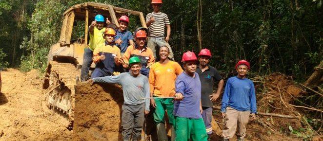 Etapas preparatórias para colheita florestal avançam na comunidade Itapéua