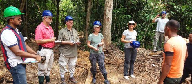 (Português do Brasil) Projetos de manejo florestal na Resex Verde para Sempre recebem visita de parceiros
