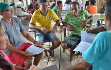 (Português do Brasil) Polo Aramã, na Resex Mapuá, avança na construção do Plano de Manejo Florestal Sustentável